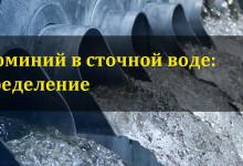 Алюминий в сточных водах