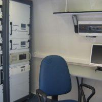 Передвижная лаборатория внутри