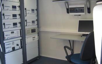 передвижная лаборатория изнутри.